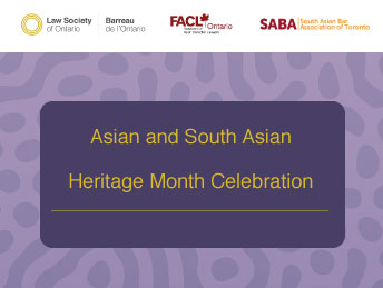 Asian and South Asian Heritage Month Celebration