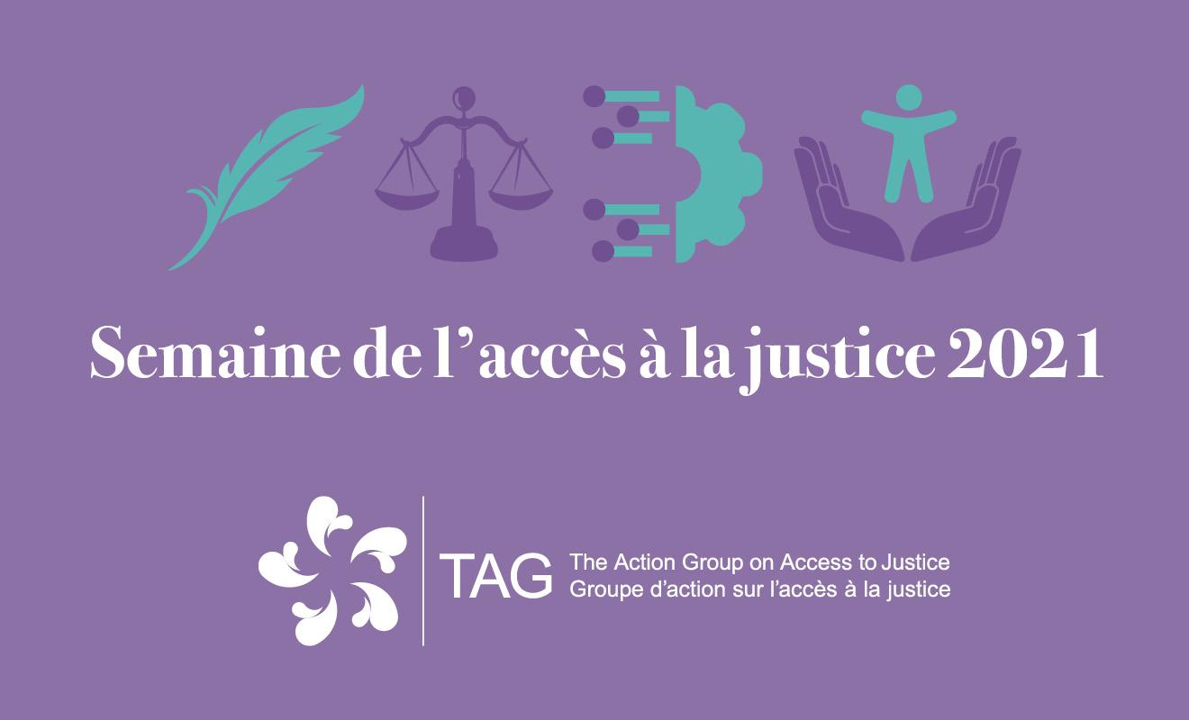 Joignez-vous à nous pour la Semaine de l'accès à la justice 2021