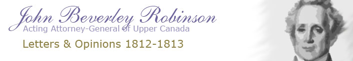 John Beverley Robinson Letterbook Banner