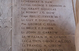 Photo of the Memorial showing name substitution, LSO Art Collection