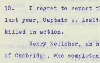 Killed in action - Minutes of Convocation, June 17, 1915, LSUC