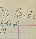 Thumbnail - Lieutenant Robert William Low McBrady Roll Card