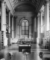 The Great Library before the installation of the Memorial. Photo circa 1890, LSO Archives