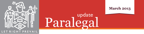 Paralegal update march 2013 images