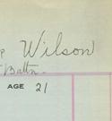 Vignette - Carte-matricule du lieutenant Arthur Patrick Wilson