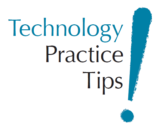 Technology Practice Tips Logo - Blue