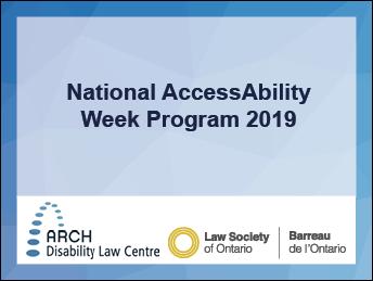 National AccessAbility Week 2019
