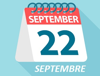 September 22 Septembre