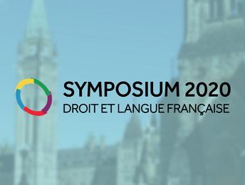 Symposium 2020 Droit et langue française
